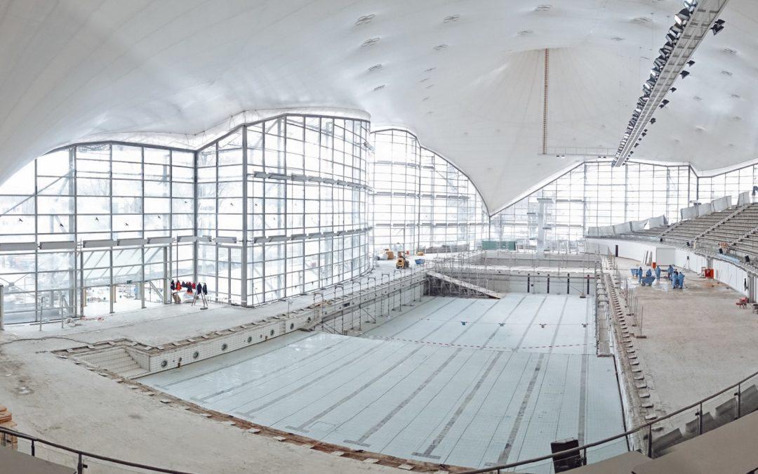 Olympiaschwimmhalle: Schwimmen wie die Sieger
