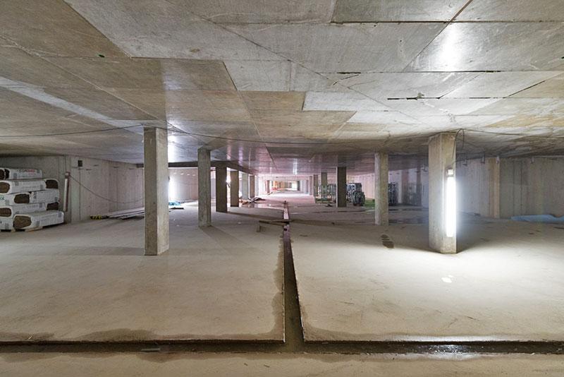 Innanansicht Rohbau Wohngebäude Meiller Gärten in München