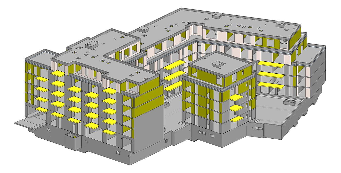 BIM-Modell für den Hochbau, ZM-I Nürnberg