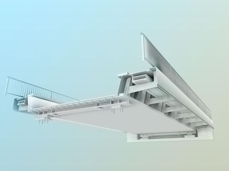 3D-Modell Eisenbahnüberführung