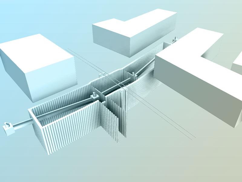 Gesamtmodell 3D Projekt EÜ Landsberg am Lech